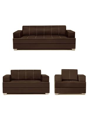 Amey ALRPL021 Brown Elegant 3+2+1 Sofa Set