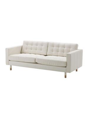 Amey ALRPL029 Off White Sino 3 seater sofa