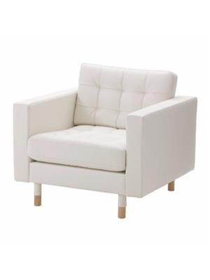 Amey ALRPL031 Off White Sino 1 seater sofa