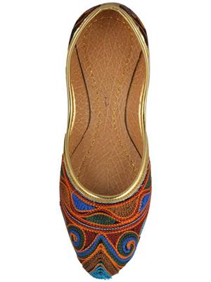 Amrapali AMPLFT07_P Multicolored Women Jutti