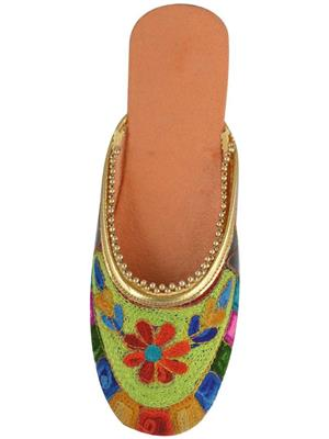 Amrapali AMPLFT08_P Multicolored Women Jutti