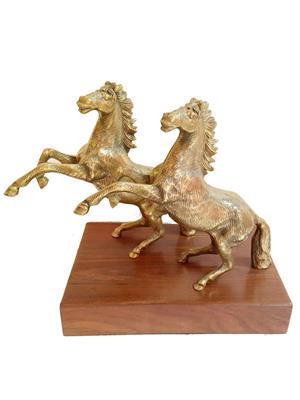 AM Vaasiti AMV56238RYZ Golden Horse Pair in Brass