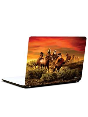 Pics And You AN056 Abstract Horses 3M/Avery Vinyl Laptop Skin Decal