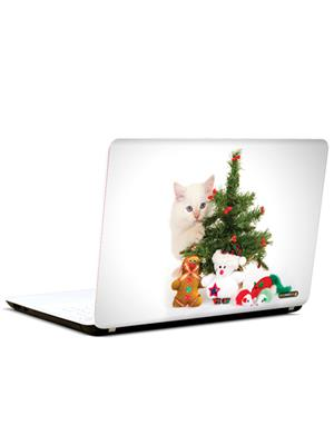 Pics And You AN067 Cat And Christmas 3M/Avery Vinyl Laptop Skin Decal