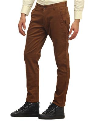 Apris A6430 Brown Men Trouser