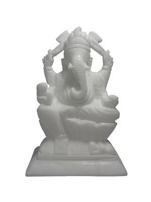 Avinash Handicraft APGN4501  White Marble Ganesh 12 cm Showpiece