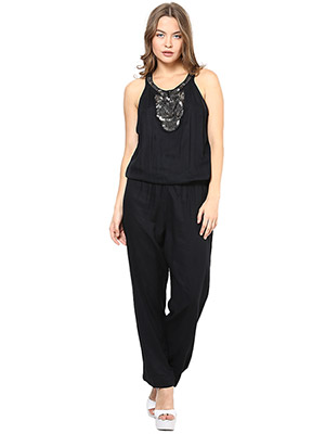 Rose Vanessa RS 122 Embellished Black Jumpsuits