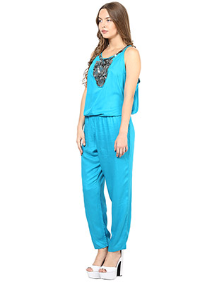 Rose Vanessa RS 123 Embellished Blue Jumpsuits