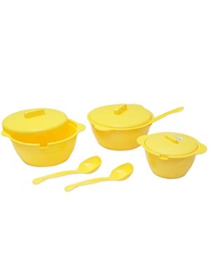 ASP Polyplast ASP-028 Yellow Serving Bowls 9 Pcs Set