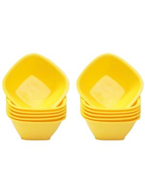 ASP Polyplast ASP-029 Yellow Square Bowls 12 Pcs Set