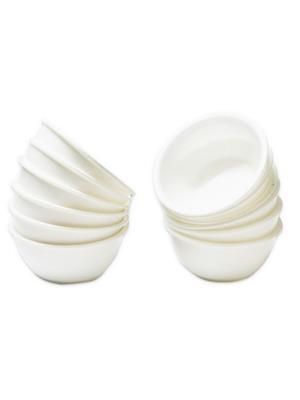 ASP Polyplast ASP-033 White Round Bowls 12 Pcs Set