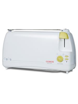 Clearline White Auto Pop Up Toaster