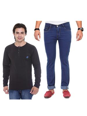 Ave Av-2Cm-Ht-Blk-As-Jen-12 Multicolored Jeans With T-Shirt Set of 2