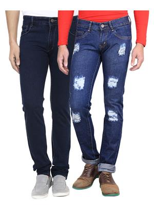 Ave AV-2CM-JEN-DNM-8-DMG-3 Blue Men Jeans Combo Pack