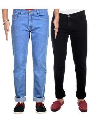 Ave 2Cm-Jen-Fdr-6-Rc-15 Multicolored Men Jeans Set of 2