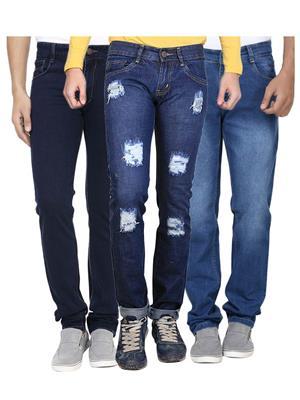 Ave 3Cm-Dnm-Dmg-Fd-8-1-1 Blue Men Jeans Combo Pack
