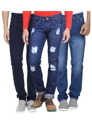 Ave 3Cm-Dnm-Dmg-Fd-8-2-1 Blue Men Jeans Combo Pack
