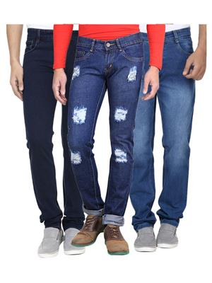 Ave 3Cm-Dnm-Dmg-Fd-8-3-1 Blue Men Jeans Combo Pack