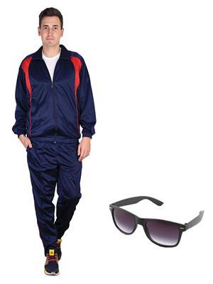 Ave Trksut-Sg Blue Men Tracksuit-Classic  Sunglasses Combo Pack