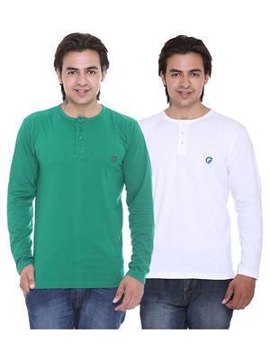 Ave-2Cm-Dg-Wh Multicolored Men T-Shirt Set Of 2