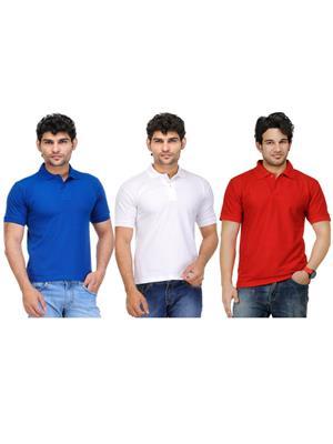 AVE-PT-Bl-Wh-Re-1 Multicolored Men T-Shirt Combo