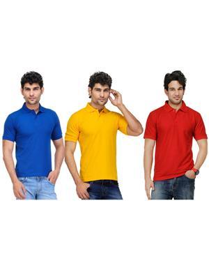 AVE-PT-Gr-YE-Re-1 Multicolored Men T-Shirt Combo