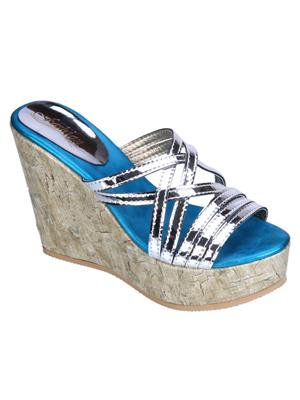 Fashion Mafia AW-10S&F Silver&Frozi Women Wedges