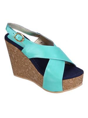 Fashion Mafia AW-1F&BL Frozi&Blue Women Wedges