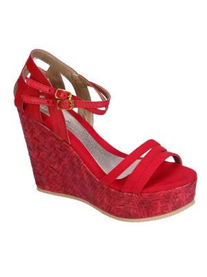 Fashion Mafia AW-2R Red Women Wedges