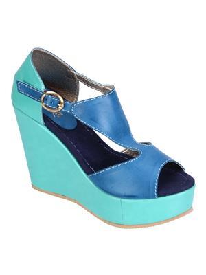Fashion Mafia AW-5F&BL Frozi&Blue Women Wedges