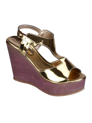 Fashion Mafia AW-6G Gold Women Wedges