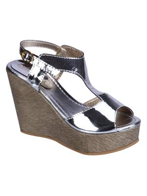 Fashion Mafia AW-6S Silver Women Wedges