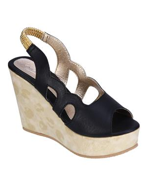 Fashion Mafia AW-7B Black Women Wedges
