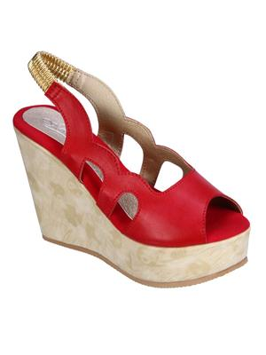 Fashion Mafia AW-7R Red Women Wedges