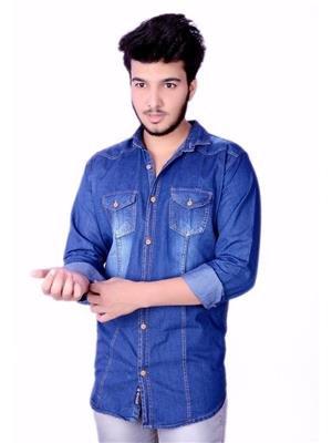 Azod-Dnm-Dark Blue Men Casual Shirt