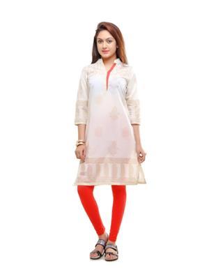 Aamii 641 Cream Women kurta & Kurti