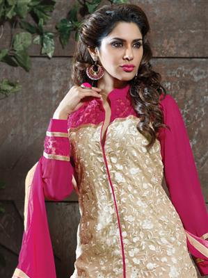 ADDA FASHION  AROMA 8010 PINK  UNSTITCHED  WOMAN SUITS