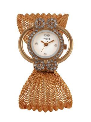 Adine 1005 Golden-White Women Wrist Watch
