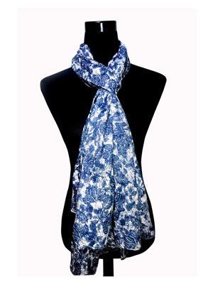 Ahujas 070 Blue Women Scarve