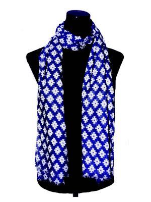 Ahujas 082 Blue Women Scarve