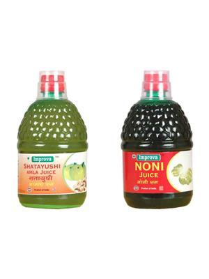 ImproveHerbal Amla & Noni 400 ml Ayurvedic Juice Combo Pack