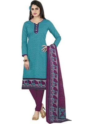 Anushree Fashion Anu15 Sky Blue Womens Dress Fabric