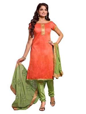 Anushree Fashion Anu17 Orange Womens Dress Fabric