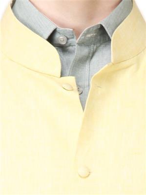 Apris WC103 Yellow Men Nehru Jacket