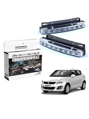 shosha Auto248 LED DRL lights 8 led Super Bright  for Car Bike Parking Light 2 Pcs