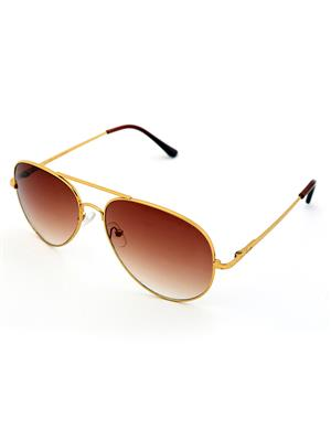 Allen Cate GoldenBrown Aviator Sunglasses
