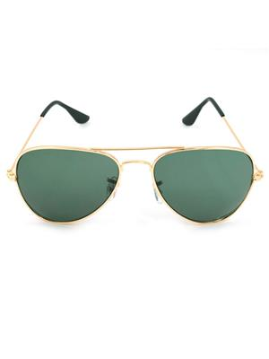 Allen Cate GoldenGreen Aviator Sunglasses