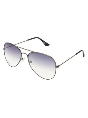 Allen Cate Grey Aviator Sunglasses