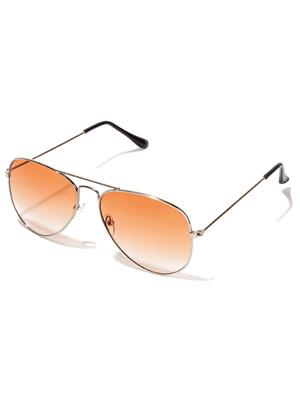 Allen Cate SilverOrange Aviator Sunglasses