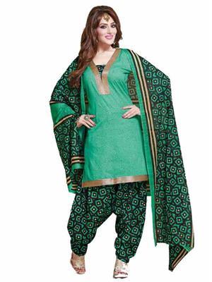 BFFGS  B-6  Green  Women Dress Materials